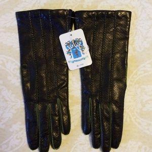 Portolano Leather Gloves NWT Size 6.5